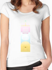 Adventure Time Retro Totem pole Women's Fitted Scoop T-Shirt