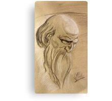 Old Man Study Canvas Print
