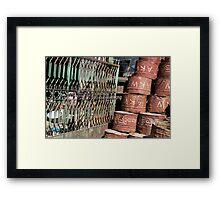 barrels Framed Print