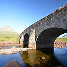 Old bridge at Sligachan by Norm Tilley
