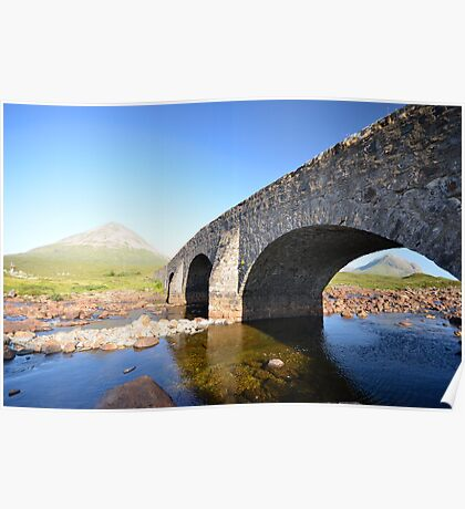 Old bridge at Sligachan Poster
