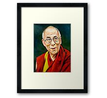 portrait of 14th Dalai Lama Framed Print