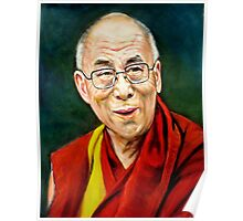 portrait of 14th Dalai Lama Poster