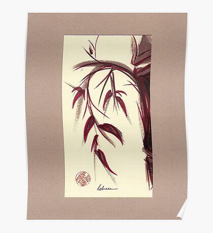 MUSE - Original Zen Ink Wash Sumi-e Asian Bamboo Painting Poster