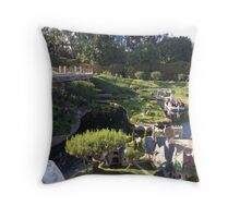 Storybook Land Canal Boats Throw Pillow