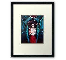 Peacock Angel Framed Print