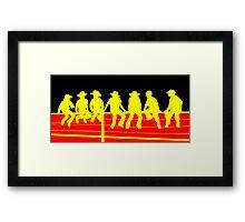 Junior Cowboys Framed Print