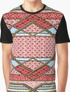 Love 4 leaf clover patchwork gifts Graphic T-Shirt