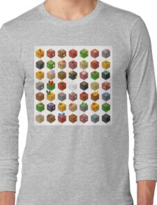 Mine Cubes Isometric Long Sleeve T-Shirt