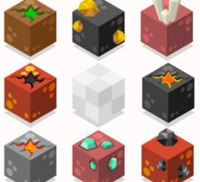 Mine Cubes Isometric Sticker