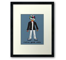 Retro Geek Chic Framed Print
