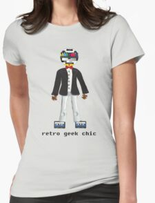 Retro Geek Chic Womens Fitted T-Shirt