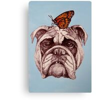 Don't worry, it's only a butterfly. Canvas Print