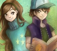 mabel pines and dipper pines GF by kiragf