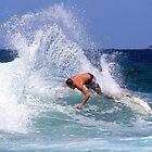 Turimetta beach surfer by Doug Cliff