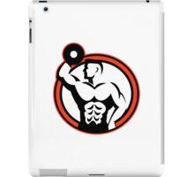 Bodybuilder Lifting Dumbbell Retro iPad Case/Skin