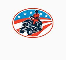 American Gardener Mowing Lawn Mower Retro Unisex T-Shirt
