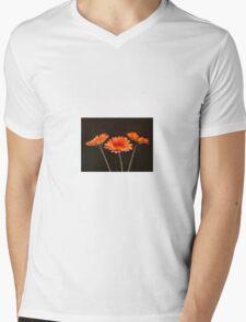 Gerbera orange Mens V-Neck T-Shirt