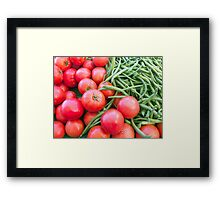 Farm Fresh Tomatoes and Beans Framed Print