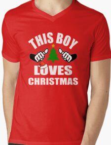 This Boy loves Christmas Mens V-Neck T-Shirt