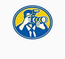 Photographer Shooting DSLR Camera Retro Unisex T-Shirt