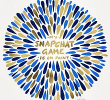 Snapchat – Navy & Gold by Cat Coquillette