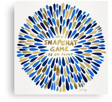 Snapchat – Navy & Gold Canvas Print