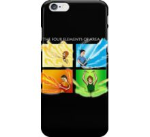 The Four Elements of Area 11 - White text iPhone Case/Skin