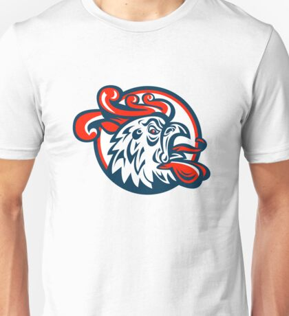 Rooster Cockerel Crowing Head Unisex T-Shirt