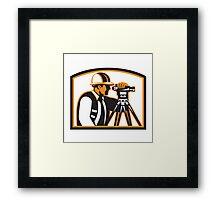 Surveyor Geodetic Engineer Survey Theodolite Framed Print