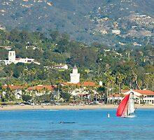 Christmas in Paradise - Santa Barbara California by Ram Vasudev