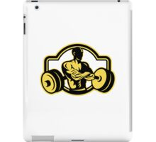 Weightlifter Arms Crossed Barbell Retro iPad Case/Skin