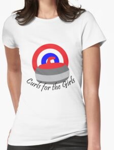 Curls for the Girls Womens Fitted T-Shirt