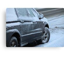 snow car Canvas Print