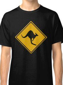Road sign - Kangaroos ahead Classic T-Shirt