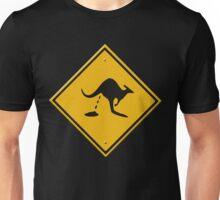 Road sign - warning kangaroo shit Unisex T-Shirt