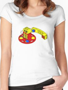 The Duplo Telephone Rattle In Original Version Women's Fitted Scoop T-Shirt