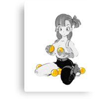 Bulma with dragon balls Canvas Print