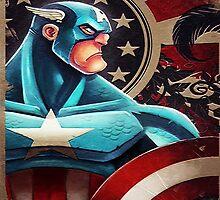 Captain America Art Painting by Electraa