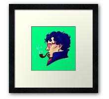 Party Sherlock [blue] Framed Print