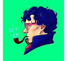 Party Sherlock [blue] Photographic Print