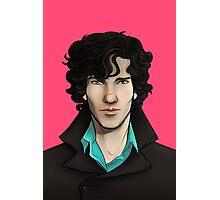 Pink Sherlock Photographic Print