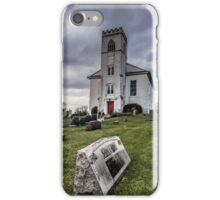 Old Ominous Church and Cemetery iPhone Case/Skin