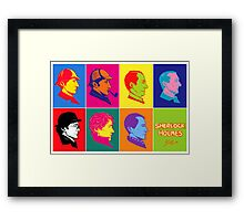 The many faces of Sherlock Holmes Framed Print