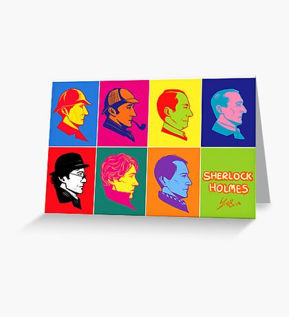 The many faces of Sherlock Holmes Greeting Card