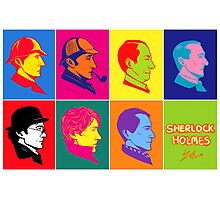 The many faces of Sherlock Holmes Photographic Print