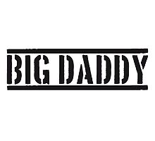 Big Daddy stamp father's day Dad father hero logo by Style-O-Mat