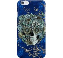 Royal Constant, floral butterfly skull iPhone Case/Skin
