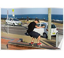 50-50 Grind On The Ledge Poster