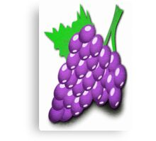 Purple Grapes Poster Canvas Print